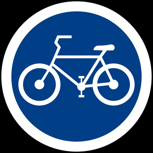 ป้ายจราจร ป้ายช่องเดินรถจักรยาน