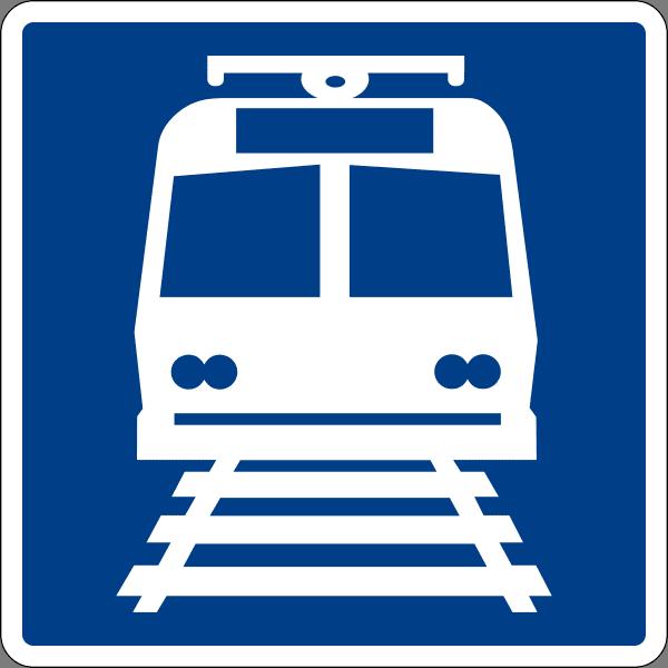 ป้ายชี้ทางไปสถานีรถไฟ