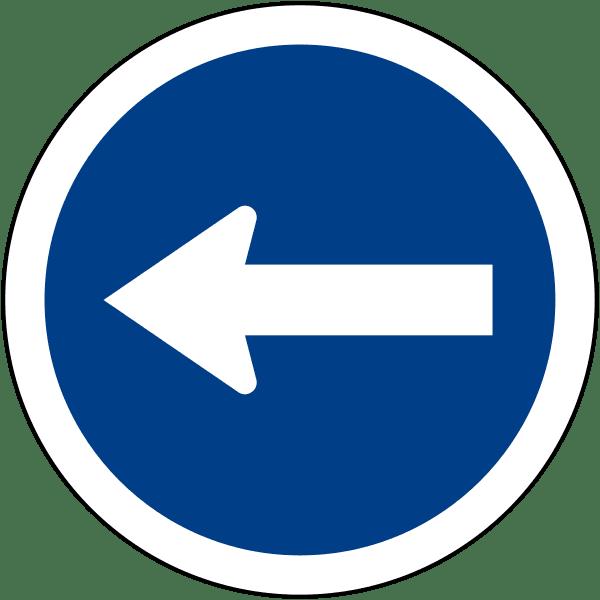 ป้ายรถเดินทางเดียวไปทางซ้าย