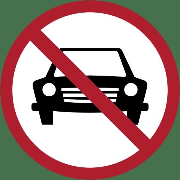 ป้ายห้ามรถยนต์