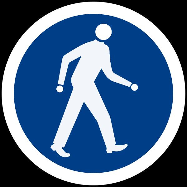 ป้ายคนเดินเท้า ป้ายเฉพาะคนเดิน