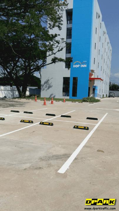 ติดตั้งยางกั้นล้อรถยนต์ @ โรงเเรมฮ๊อปอิน ลำปาง (HOP INN Lampang)